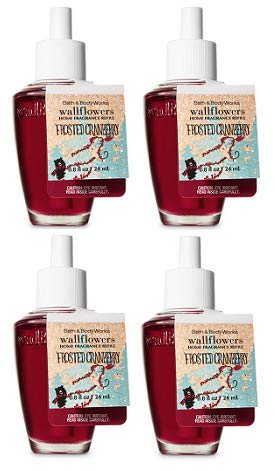 Bath and Body Works Frosted Cranberry Wallflowers Fragrances Refill. 0.8 Oz. 4 Set.