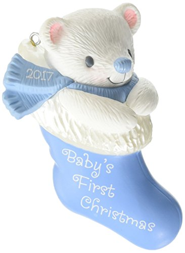 Hallmark Keepsake 2017 Baby Boy's First Christmas Dated Christmas Ornament