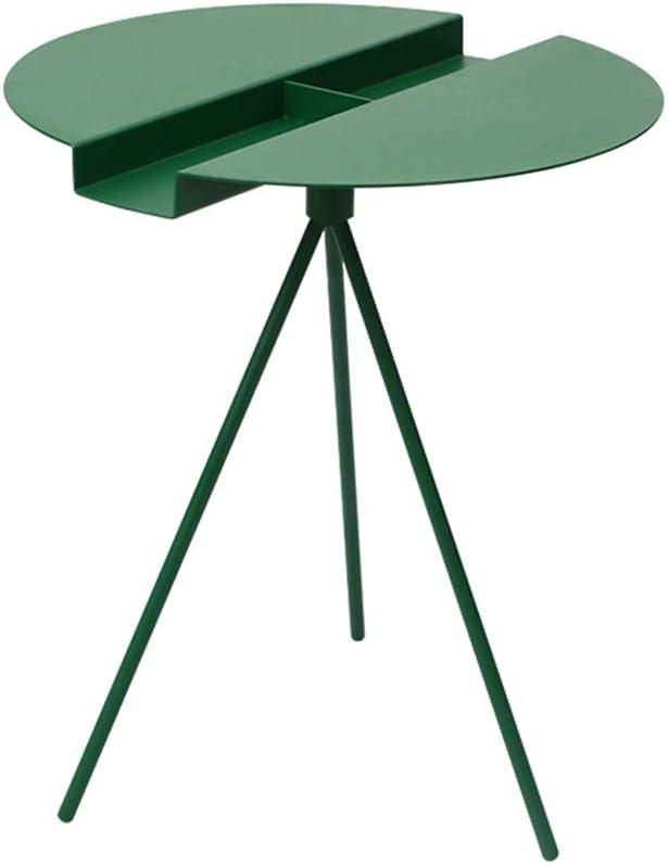 Nieuwe Lagere Prijzen Desk Xiaolin Ronde bijzettafel van metaal moderne, geribbelde salontafel vintage woonkamer-nachtkastje 45 x 45 x 60 cm 03 uDasltl