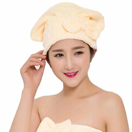 Hunputa Unisex Hat Winter, Dry Wet Hair Cap Microfiber Drying Towel Pink Turban Wrap Quick Dry Ultra Absorbent Bath Spa Head Hat ()