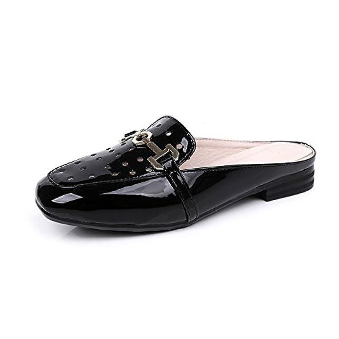 Moda Abbigliamento Esterno Versione Coreana Fondo Piatto Grandi Dimensioni Vernice Infradito Signore Sandali E Pantofole