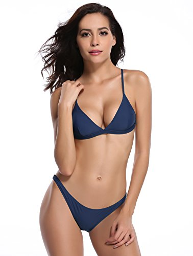 SHEKINI Women's Triangle Bikini Bathing Suits