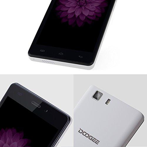 Unlocked Smartphones, DOOGEE X5 Dual Sim GSM International Phone - 5.0 HD IPS Display - Android 6.0 - MT6580 Quad Core - 1GB RAM+8GB ROM - 5MP Camera, Unlocked Cell Phones, White (no ads)