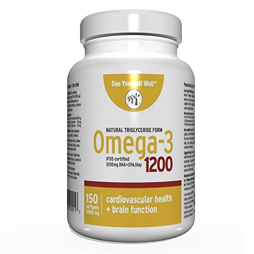 See Yourself Well Natural Triglyceride Form Omega 3 Fish Oil Softgels, 1200 (150 Count)