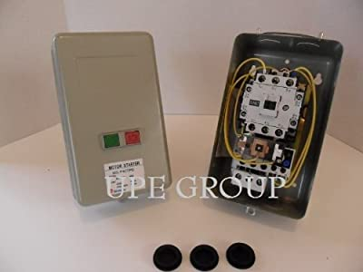 New Magnetic Motor Starter Control for electric motor w/ push button on/off 7.5hp 1ph 230V definite purpose 40 amp