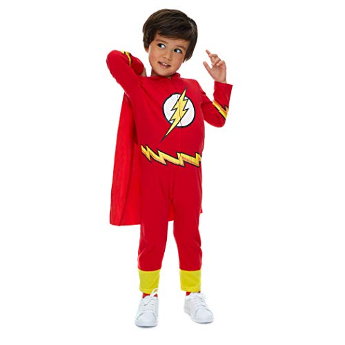 24 Month Robin Halloween Costume (Warner Bros. Justice League Flash Baby Boys Hooded Costume Coverall & Cape (24)