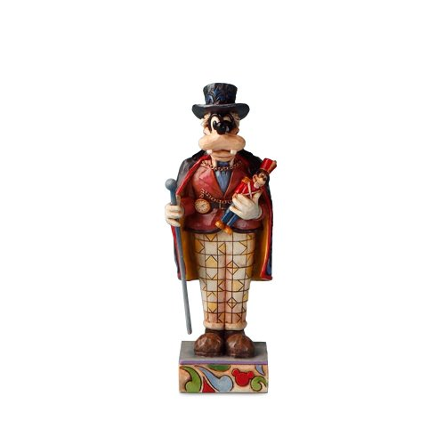 Disney Traditions by Jim Shore 4016562 Personality Pose Nutcracker, Goofy Dressed as Drosselmeyer Figurine, 5-Inch