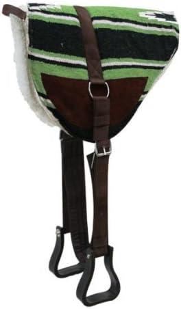 Showman Navajo verde lima Bareback Saddle Pad con Kodel forro ...
