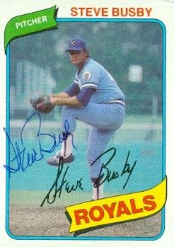 - Autograph Warehouse 97987 Steve Busby Autographed Baseball Card Kansas City Royals 1980 Topps No. 474