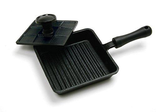 Norpro 653 Cast Iron Mini Panini Pan With Press 2pc