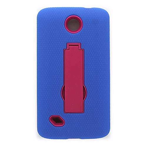 Trident Blue/Pink Hybrid Case with Stand for Unimax