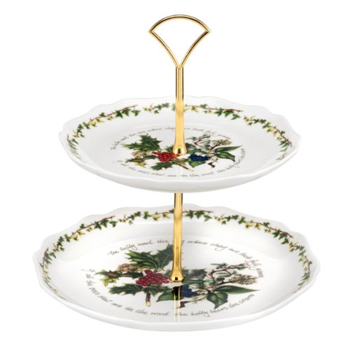 Portmeirion Holly & Ivy 2-tier Cake Stand ()