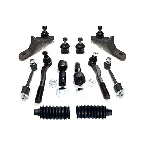 PartsW 12 Pc Tie Rod End Sway Bars Upper & Lower Ball Joints Suspension Kit for 1996-2002 TOYOTA - Tie Kit Bar