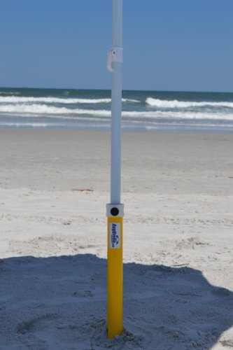 AugBrella Commercial Beach Sand Anchor - Holder for Umbrella (Yellow)