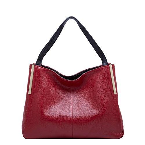 Rouges en BOYATU Dates Sacs fourre main les Sac à cuir Womens dames pour tout mode Noir à bandoulière sac IwpwqAU