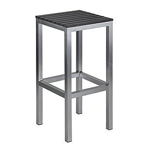 Amazon.com : Haven Aluminum Outdoor Backless Barstool in Slate Grey