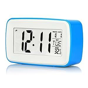 N-Image Digital Sound Voice Recording Alarm Clock Travel Smart Clock (Blue)