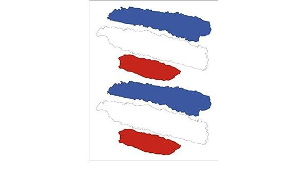 Artimagen Pegatina Bandera Trazos Francia 2 ud. 65x40 mm/ud.: Amazon.es: Coche y moto