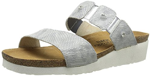 NAOT Women Ashley Sandal, Silver Snake, 42 EU/11 M US