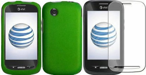 Neon-Green-Hard-Case-CoverLCD-Screen-Protector-ZTE-Merit-990G-Avail-Z990