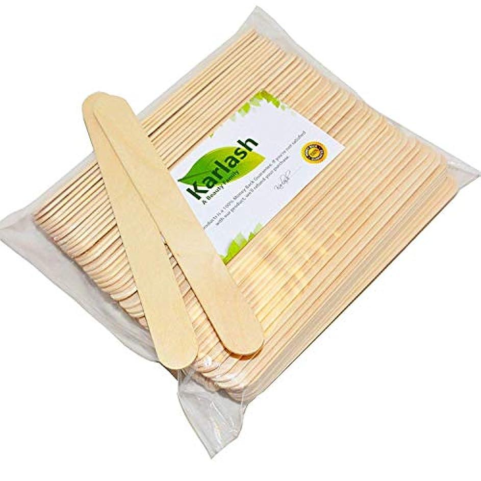 縮れた経験途方もない100 Large Wax Waxing Wood Body Hair Removal Craft Sticks Applicator Spatula 141[並行輸入]