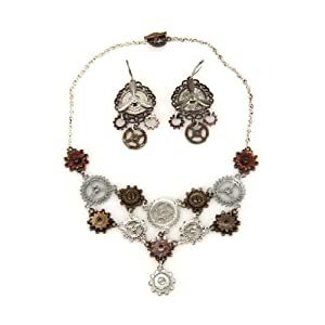 elope Multi Gear Necklace And Earring