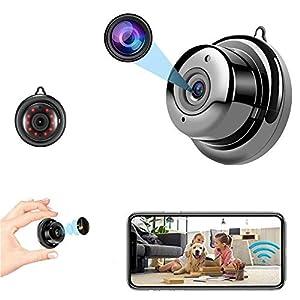 Flashandfocus.com 41nPAcusQeL._SS300_ Mini Camera Nanny cam Spy Camera with Audio, Home Surveillance Camera, Two-Way Voice and Video Call, 1080P IP HD…