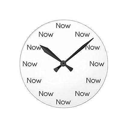 Amazon Rustic Wall Clock For Living Room Decor Now Is Zen