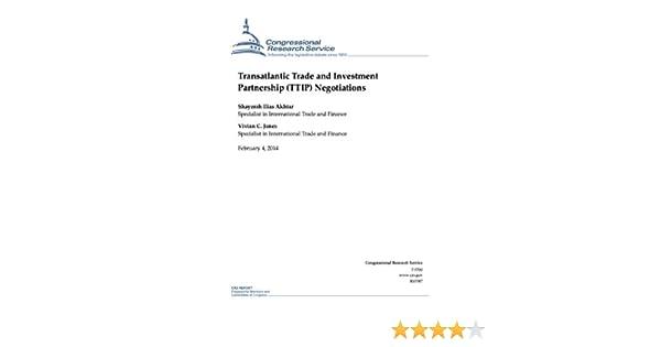 Transatlantic Trade And Investment Partnership Ttip Negotiations