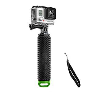 Mystery Waterproof Floating Hand Grip, Underwater Selfie Stick for Gopro Hero Session, Pro Cameras Float Handle, Scuba/Diving Action Camera Accessories (Green)