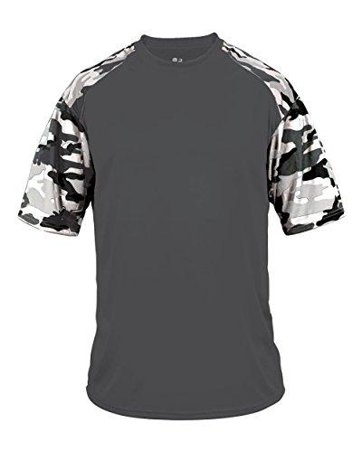 Blank Front/Back Grey/Royal Camo Adult Large Sleeve Wicking Jersey Uniform Shirt