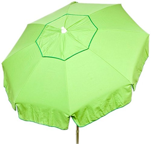 Heininger 1360 DestinationGear Italian Lime 6' Acrylic Solid Beach Pole Umbrella (Acrylic Umbrella)