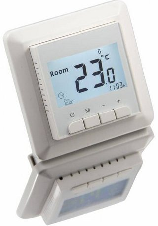 Digital rasante Reloj Termostato para calefacción por suelo radiante 16 A