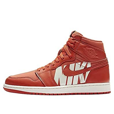 size 40 4bbdf 53586 Zapatos Hombre Zapatillas Air Jordan 1 Retro High OG en Cuero Naranja  555088-800  Amazon.es  Zapatos y complementos