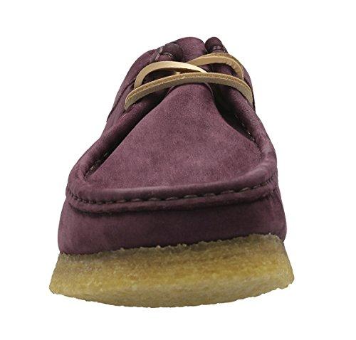 Clarks Mens Wallabee Shoe Viola Uva Nubuck
