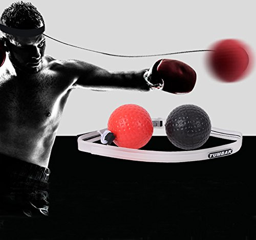 GELIS Boxing Reflex Ball on String 2 Difficulty Speed Balls,Fight Ball Trainer with Silicone Headband,Home Gym Boxing Equipmentfor MMA Training,Punching Exercise,Speed Reactions by GELIS