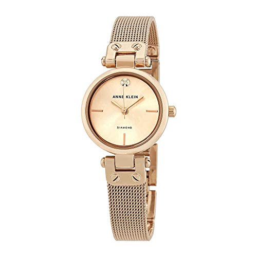 (Anne Klein Women's Quartz Metal and Stainless Steel Dress Watch, Color:Rose Gold-Toned)