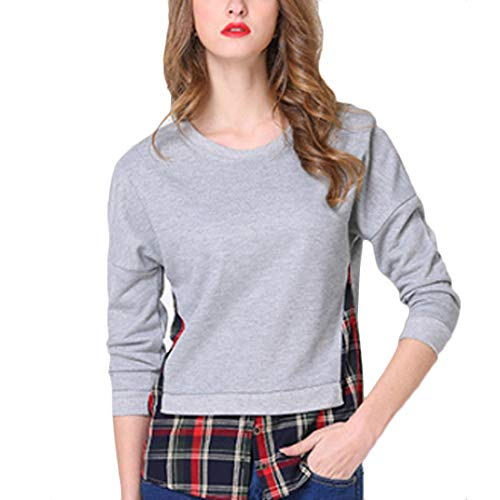 lunga Vestibilit Donna pullover Manica Tops Aiweijia qw87PZt7
