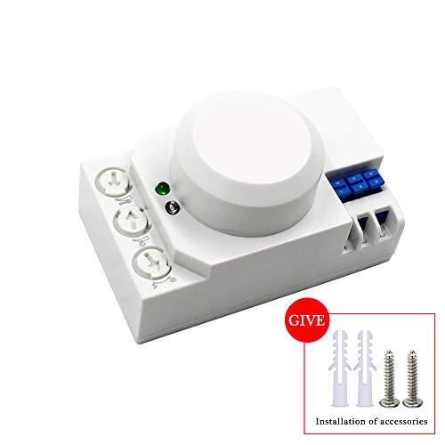 RUISI 360 degree Microwave Sensor Radar Light Control Switch power-saving Ceiling wall Mounted Adjustable Smart Motion Sensor Light Radar Switch by RUISI (Image #3)