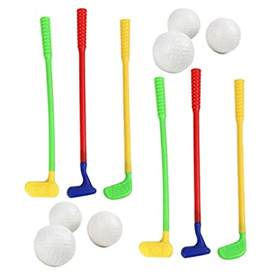 Garneck 2 Sets of Golf Toy Endurable Plastic Funny Interactive Attractive Golf Club Toy Golf Game Toy Golf Toy: Sports & Outdoors