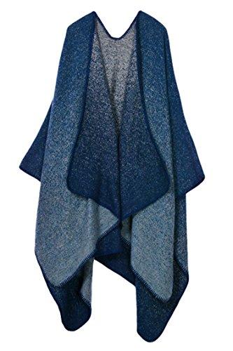 Reversible Ladies Cape (Ladies' Reversible Fashion Wrap Oversized Blanket Poncho Cape)
