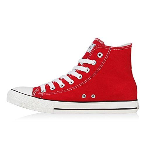 Rot Übergrößen high Unisex Damen Ambler Herren Flandell Sneaker Stiefelparadies PUcT0nqWHH
