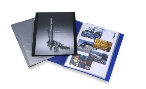 Display Softcover Book (Rapesco A4 Presentation Soft Cover Display Book - Blue)