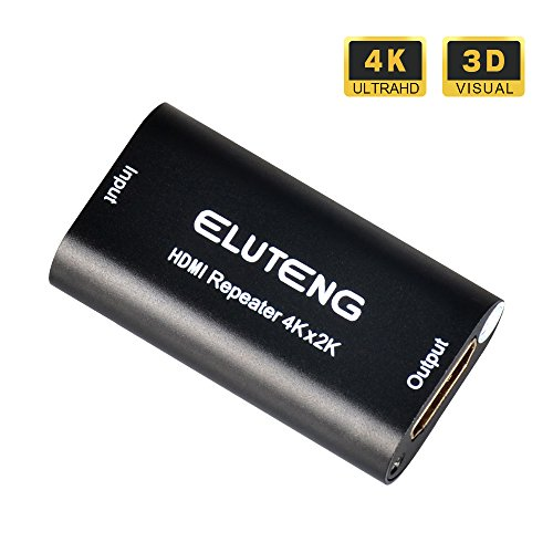 ELUTENG HDMI Amplifier Booster 4K 30Hz/1080P 60Hz Full HD Female to Female Connector HDMI1.4 Support 3D HDCP Signal Repeater 120-Feet Transmission
