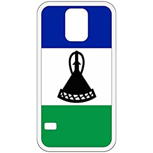 Lesotho Flag White Samsung Galaxy S5 Cell Phone Case - Cover