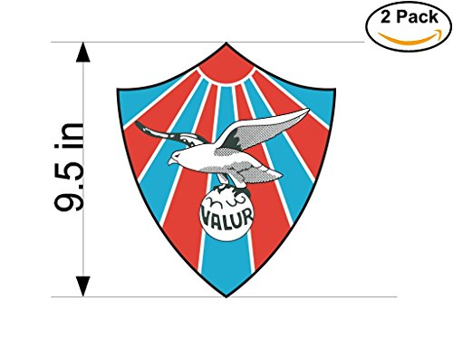 fan products of Valur Reyikjavik Iceland Soccer Football Club FC 2 Stickers Car Bumper Window Sticker Decal Huge 9.5 inches