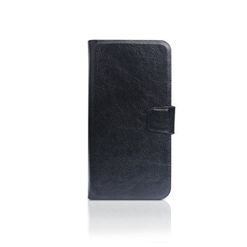 TOP SET: Housse pour Apple iPhone X, noir + Écouteurs. Étui portefeuille. Poche avec des fentes de cartes. Wallet Case Étui Book. Antichoc protection Flip Style - K-S-Trade (TM)