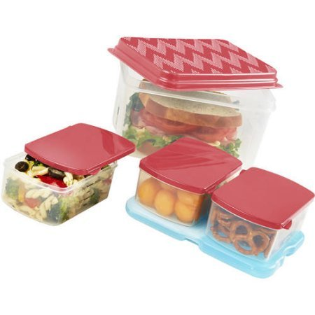 the-go-lunch-container-set-with-removable-ice-packcoral-chevron