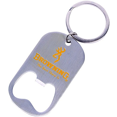 Browning Bottle Opener Keychain (Stainless Steel Construction, 2 1/8