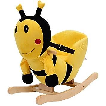 Qaba Kids Plush Rocking Horse Style Bumble Bee Theme Chair
